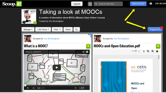 Scoop.it on MOOCs
