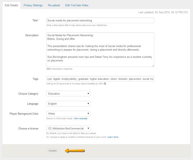 Slideshare details box