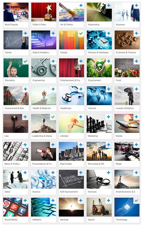 Slideshare topics