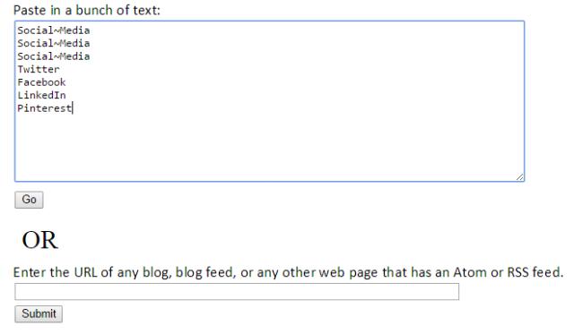 Wordle text box