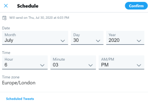 tweet schedule options