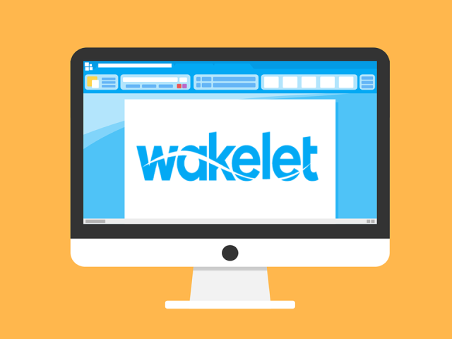 Wakelet logo on a laptop