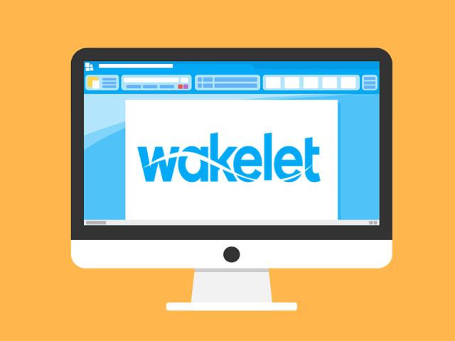 Wakelet logo on a laptop